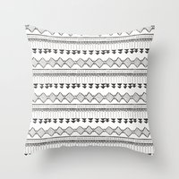 mexico Throw Pillows featuring Mexico by Marta Li