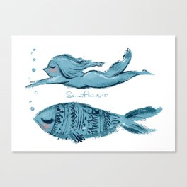 Swimming Summer  Canvas Print