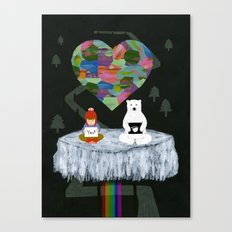 yes yes paw Canvas Print
