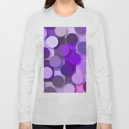 squares & dots violet Long Sleeve T-shirt
