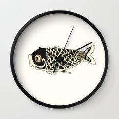 Koi Black Wall Clock