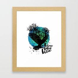 The Trees Speak Latin Framed Art Print