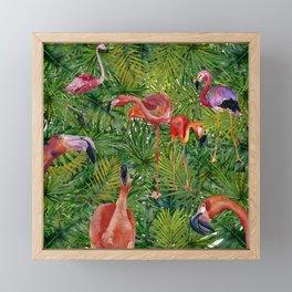 Aloha- Flamingo Bird Jungle Framed Mini Art Print