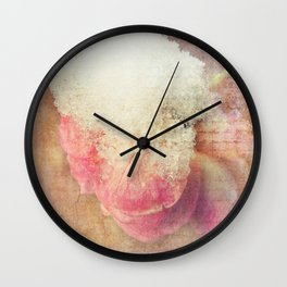 Vintage Roses - Vintage English Rose Wall Clock