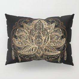 Lotus Black & Gold Pillow Sham