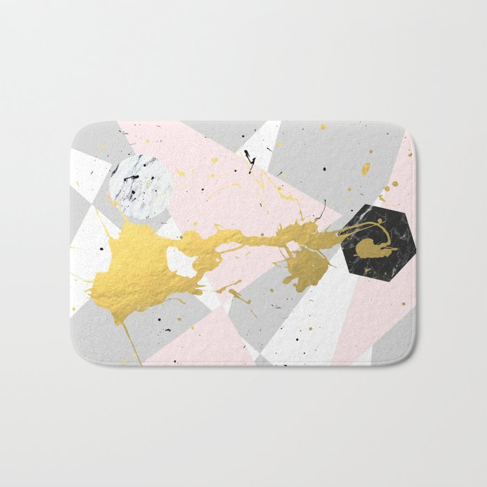 Gold Splatter #society6 #decor #buyart Bath Mat