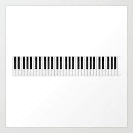 Piano / Keyboard Keys Art Print