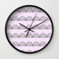 Pastel Scallops - For a Minute There I Lost Myself Wall Clock