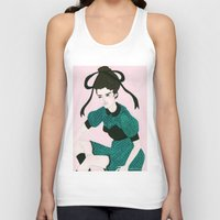 champagne Tank Tops featuring Charlemagne Champagne by Caitlin Shearer