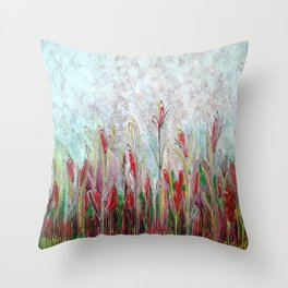 Campo di papaveri Throw Pillow