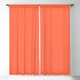 From Crayon Box – Outrageous Orange - Bright Orange Solid Color Blackout Curtain