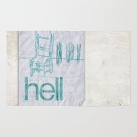 hell Area & Throw Rugs featuring hell by Josh LaFayette