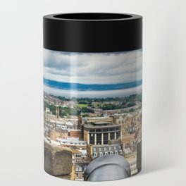View of Edinburgh, Scotland from Edinburgh Castle Can Cooler