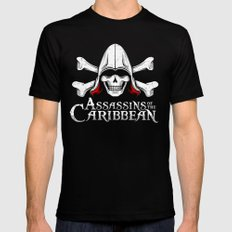 Assassins of the Caribbean Mens Fitted Tee LARGE Black