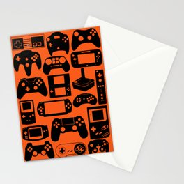 Retro Controllers - Orange  Stationery Cards