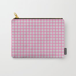Argyle Pattern | Pink and Grey Carry-All Pouch