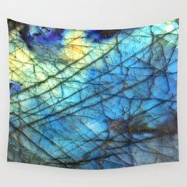 Royal Labradorite Crystal Agate Gemstone Print Wall Tapestry