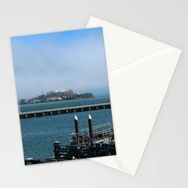 Alcatraz On A Foggy Morning Stationery Cards