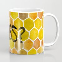 bees Mugs featuring BEES? by Cat Coquillette