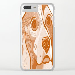 BEAGLE Brown Tones Clear iPhone Case