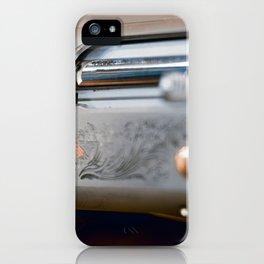 Hunting shotgun Close up. Duck Hunting. iPhone Case