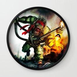 iron maiden album 2021 dede25 Wall Clock