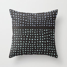 A Snowy Day - Abstract Minimalist Throw Pillow