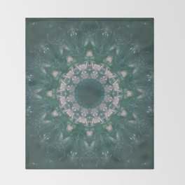 Amazon Emerald Gemstone Mandala No. 39 Throw Blanket