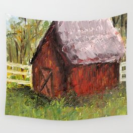 Countryside Barn Wall Tapestry