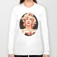 marilyn Long Sleeve T-shirts featuring Marilyn by Helen Green