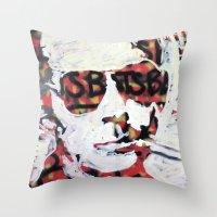 bats Throw Pillows featuring Bats by Matt Pecson