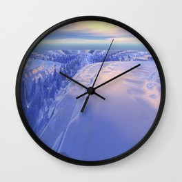 Ice Fissure Wall Clock