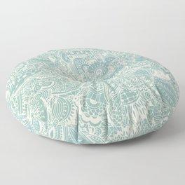 Detailed rectangle, light blue Floor Pillow