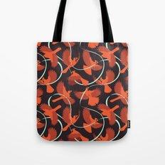 Cardinals with Ribbon Tote Bag