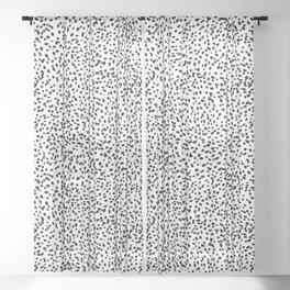 Nadia - Black and White, Animal Print, Dalmatian Spot, Spots, Dots, BW Sheer Curtain