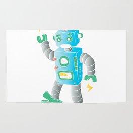 cartoon toy robot. Rug