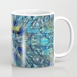 Blue Yellow Stained Glass Multicolor Pattern  Coffee Mug