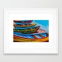 boats Framed Art Prints featuring Boats by Sartoris ART