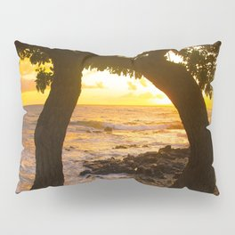 Two Trees In Tropical Paradise Sunset Pillow Sham