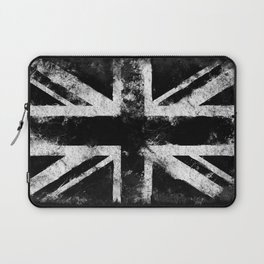 Black Grunge England flag Laptop Sleeve