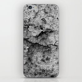 Old Brittle Wall BW iPhone Skin