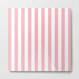 Vertical Coral Stripes Pattern Metal Print