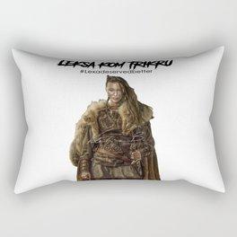 Commander Leksa kom Trikru Rectangular Pillow
