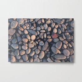 Pebbles grey Metal Print