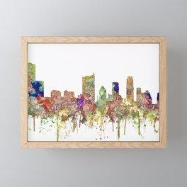 Austin, Texas Skylin SG - Faded Glory Framed Mini Art Print