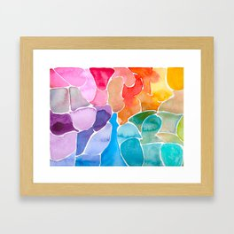 Rainbow glass Framed Art Print