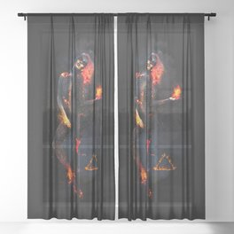 Fire Witch - Elements Collection Sheer Curtain