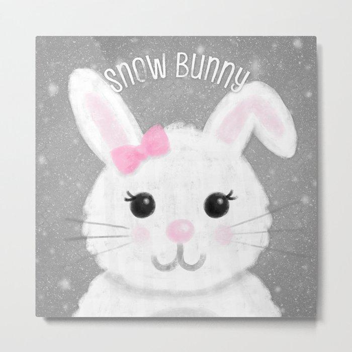 Snow Bunny Metal Print