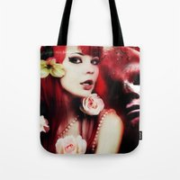 melissa smith Tote Bags featuring Melissa by Florian Ruocco a.k.a AKSHOBHYIA