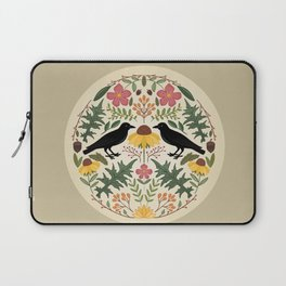 Crows, Wild Roses, Thistles And Sunflowers Laptop Sleeve